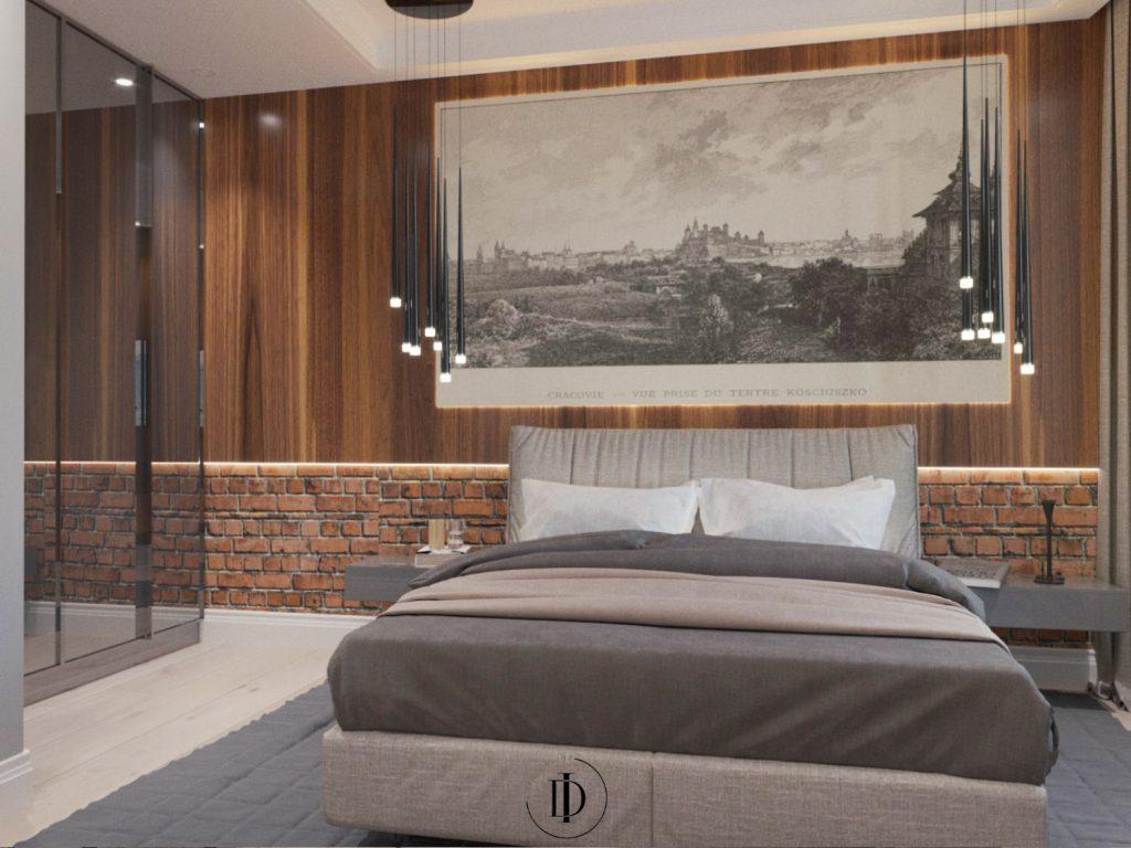 Loftowe wnętrza - sypialnia - SaniWell
