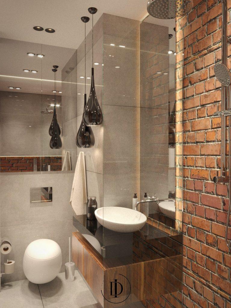 Loftowe wnętrza - łazienka - SaniWell