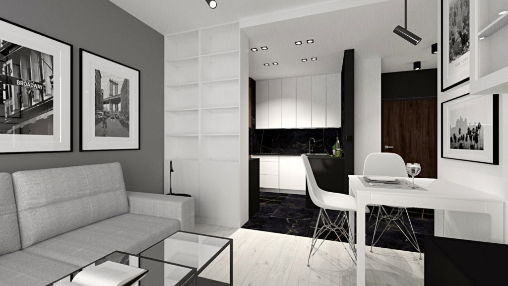 Projekt i wykończenie mieszkania Kraków SaniWell