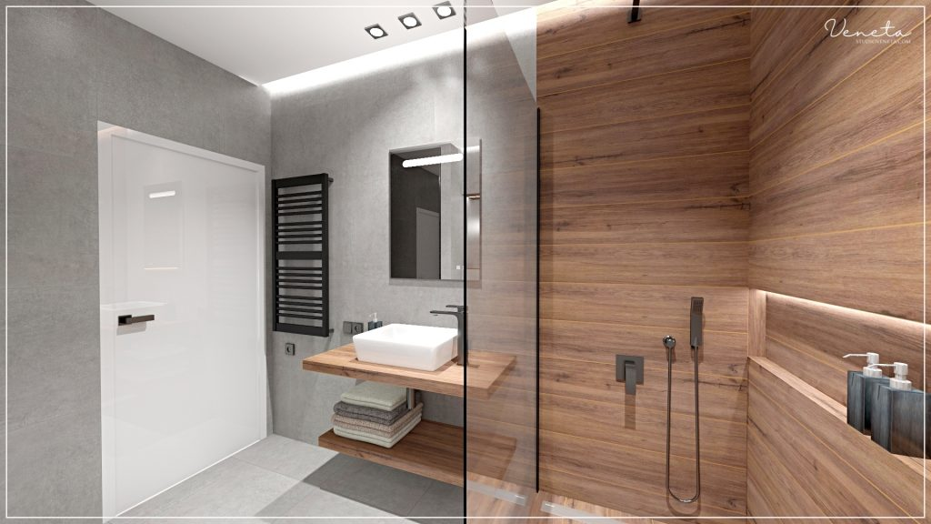 Projekt łazienki - SaniWell