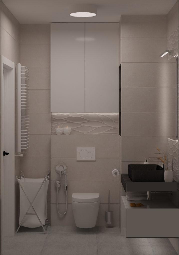 SaniWell wchodzisz i mieszkasz. Realizacja w Krakowie, Prądnik Czerwony – łazienka z WC